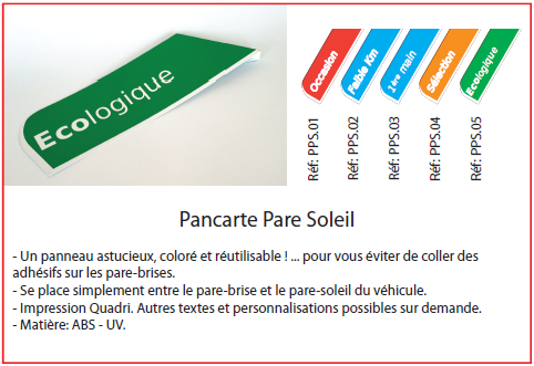 Pancarte Pare-Soleil