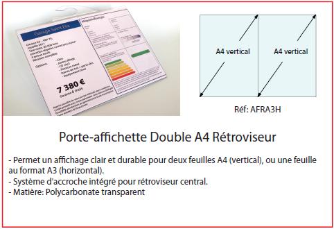 Porte-Affiche Double A4 Rétroviseur
